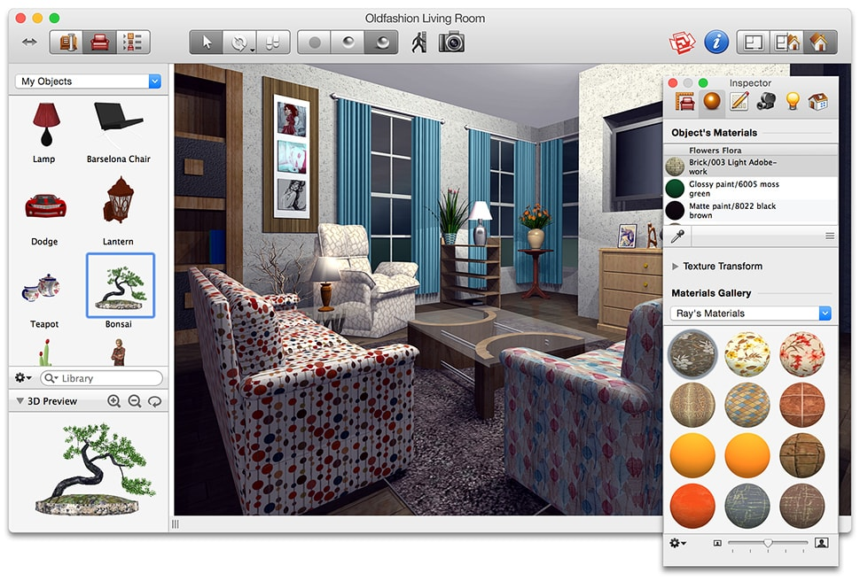 Live interior 3d home and interior design software for mac - Interior design software mac ...