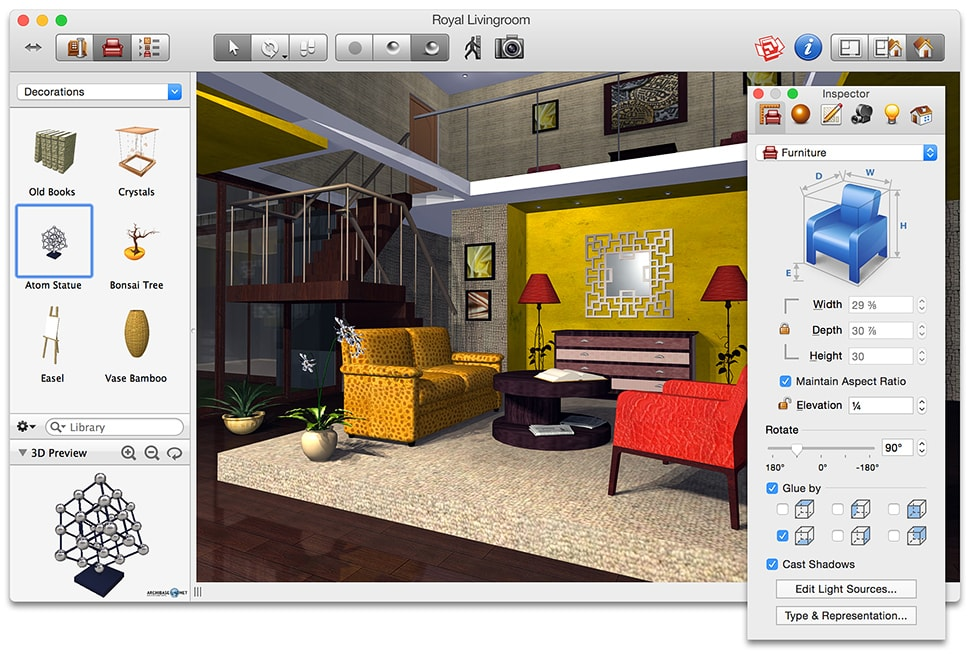 Live Interior 3d Home And Interior Design Software For Mac: easy interior design software