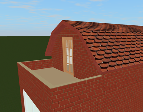 Roofs in live interior 3d for Roof terrace definition